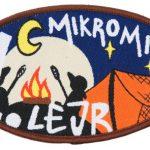 Ovalt vævet Mikro Mini lejr mærke