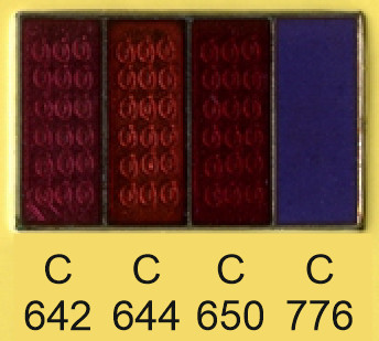 Emalje farver c642-c644-c650-c776