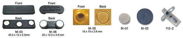 Magneter til bagsider på pins og emblemer