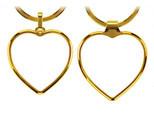 Hjerte nøglering med eget logo