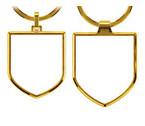 Skjoldformet nøglering med logo tryk