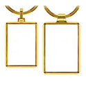 Rektangulær nøglering med logo